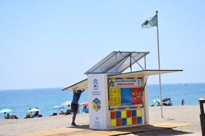 La Policía Nacional activa un operativo antihurtos en las playas de Fuengirola (Málaga)