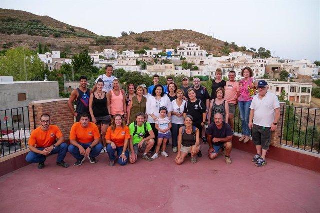 Vecinos de Beires participan en la Velada Minera