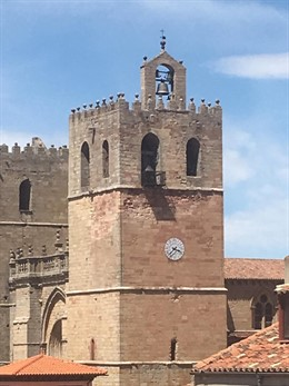 La caja sonora del reloj de la catedral seguntina será sustituida en septiembre tras dañarla una fuerte tormenta