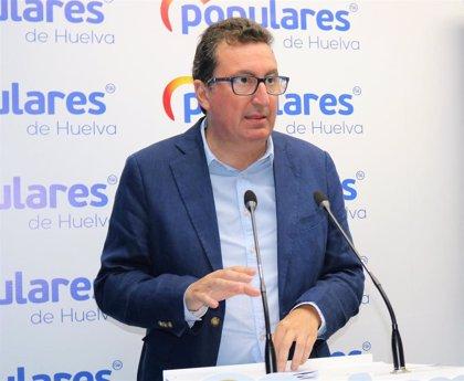 """El PP de Huelva compara la postura de """"diálogo"""" del actual gobierno andaluz con el """"ordeno y mando"""" del PSOE"""