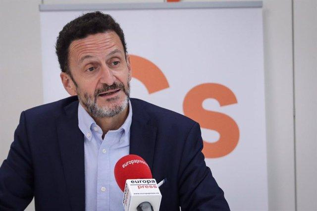 El portaveu adjunt de Ciutadans al Congrés, Edmundo Bal, durant una entrevista per a Europa Press.