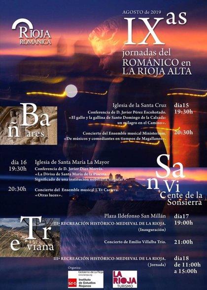 Las IX Jornadas del Románico en La Rioja Alta llegarán este año a Bañares, San Vicente de la Sonsierra y Treviana