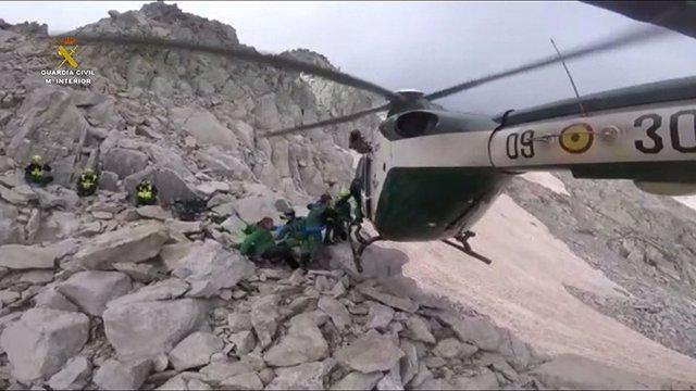 Rescate de la Guardia Civil con helicóptero