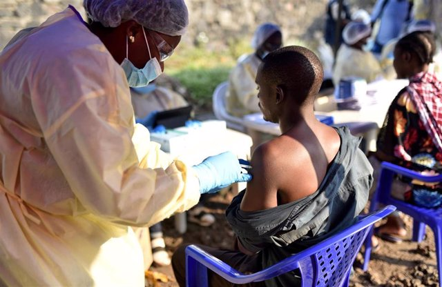 Administración de la vacuna del ébola en Goma