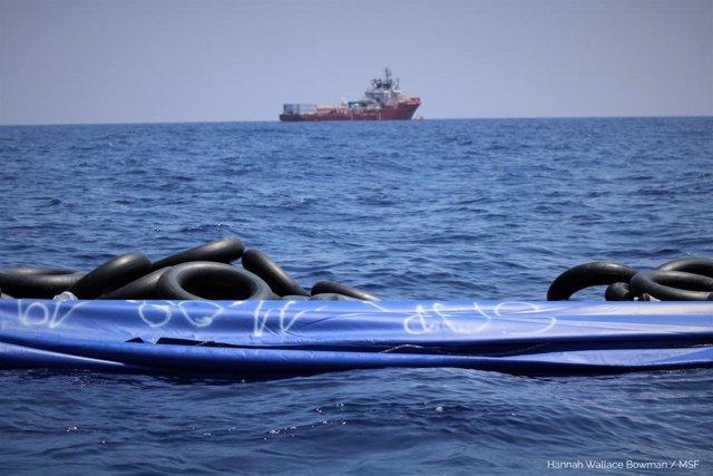 Rescate del barco 'Ocean Viking'