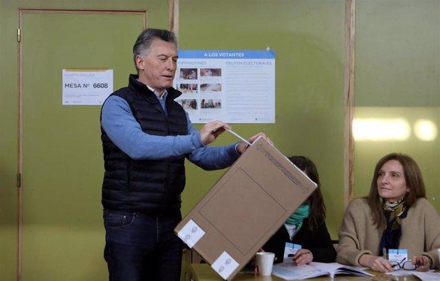 Macri vota en las PASO de Argentina