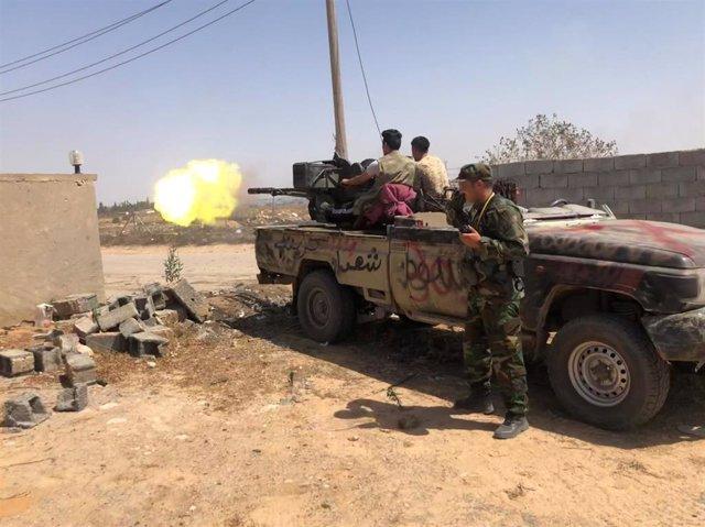 Combates en el sur de Trípoli