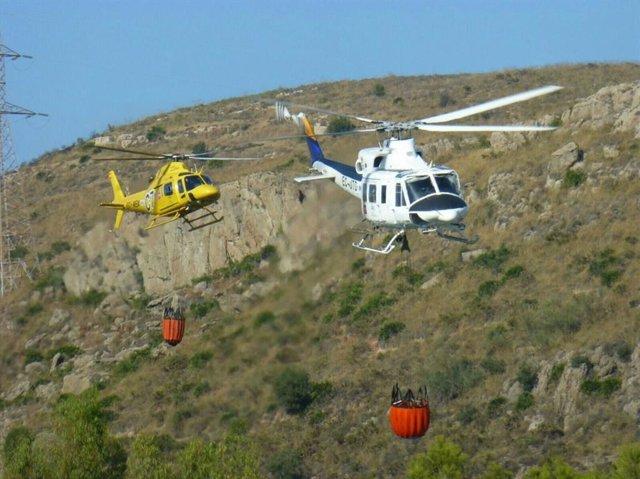 Helicópteros infoca en una imagen de archivo