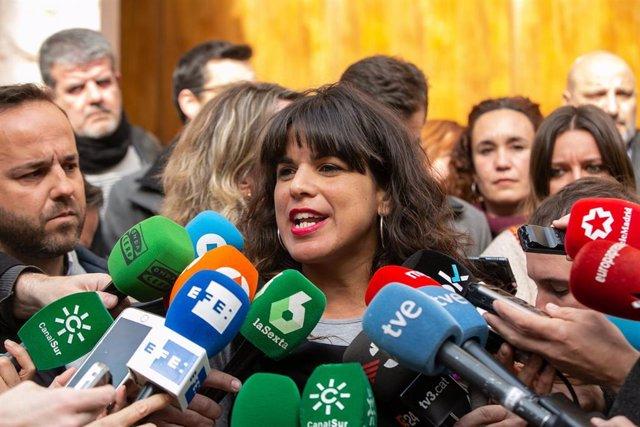 La secretaria general de Podemos Andalucía, Teresa Rodríguez, en una imagen de archivo.