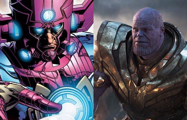 Galactus y Thanos, dos grandes villanos Marvel