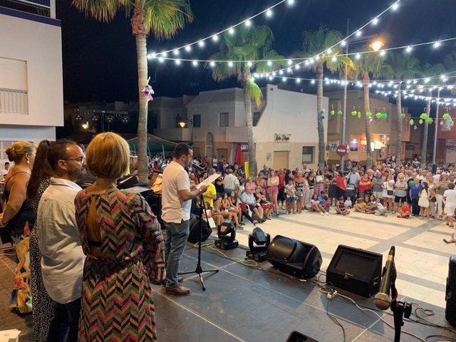 Concejal Carlos Sánchez pronuncia el pregón del barrio Cabo de Gata