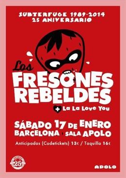 Cartel de un concierto de Los Fresones Rebeldes