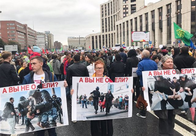 Protestas en Moscú contra Vladimir Putin