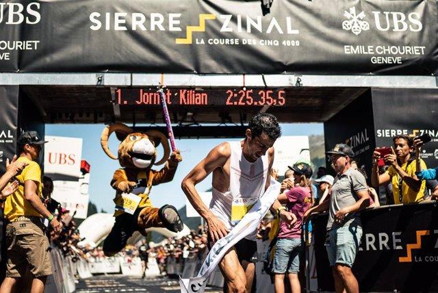 Kilian Jornet pulveriza el récord en Sierre - Zinal