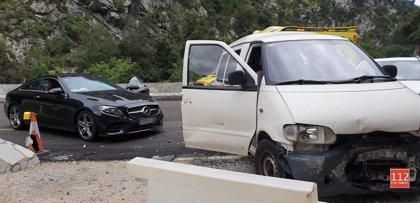 Varias colisiones con heridos en el túnel de Lantueno, Cillorigo y Valdeprado
