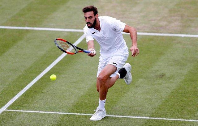 Marcel Granollers en el Nottingham Tennis Centre
