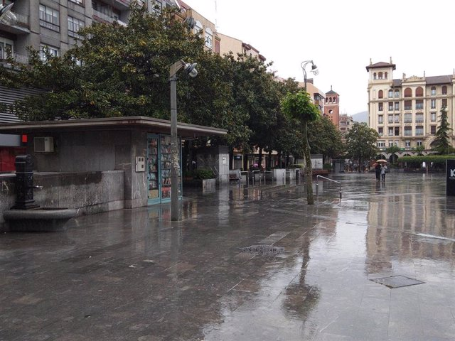 Ciudad pasada por agua por las lluvias