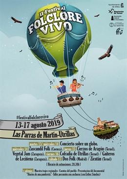 Cartel del Festival Folclore Vivo