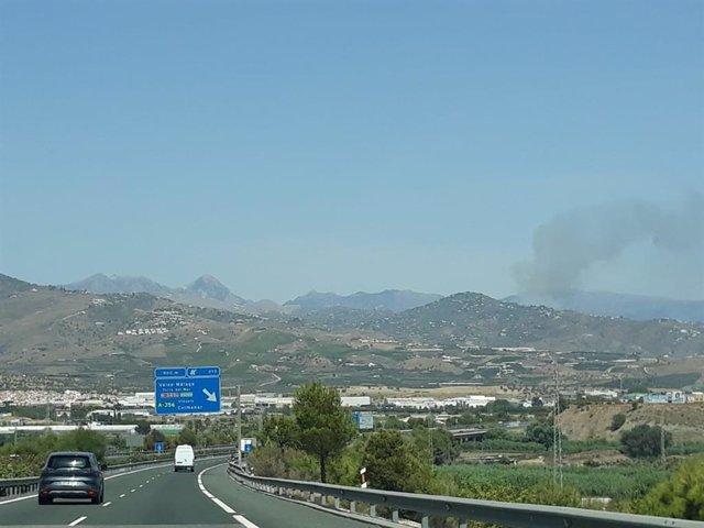 Incendio forestal en Torrox (Málaga).