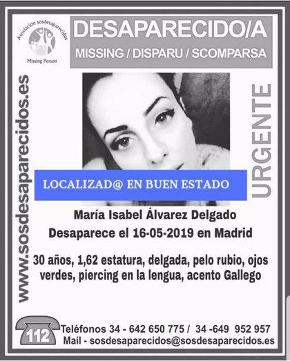 Localizada en buen estado la mujer de 30 años que se daba por desaparecida desde el 16 de mayo