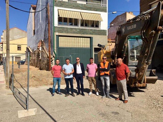 Inicio de las obras en estación autobuses  de Pradejón