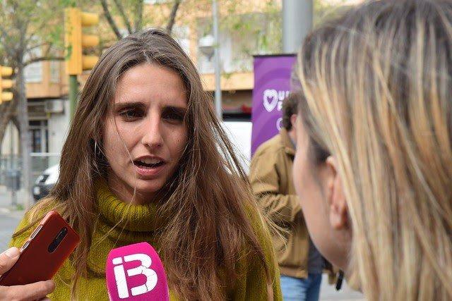 La diputada de Podemos por Baleares en el Congreso, Lucía Muñoz.