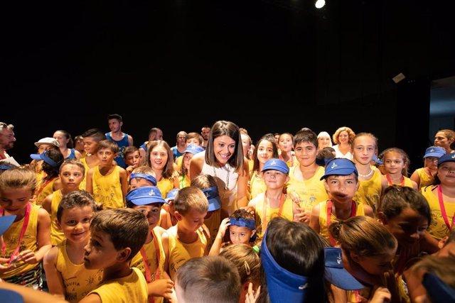 Momento de la clausura de la escuela de verano de Diputación y Ayuntamiento de Tabernas