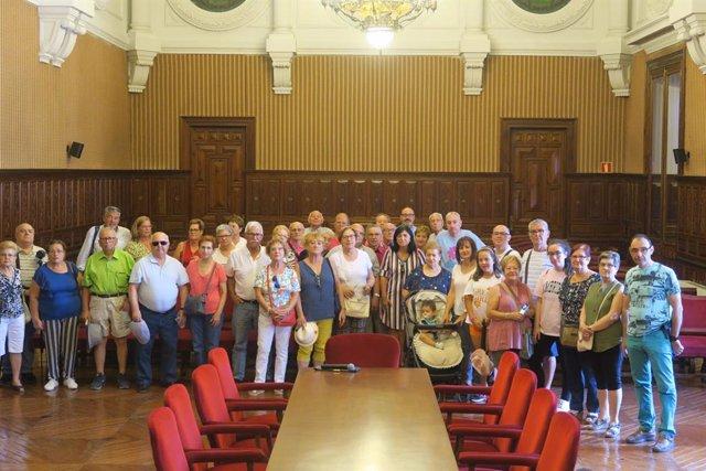 Recepción a miembros de la Asociación Hijos de Bedmar en Cataluña.