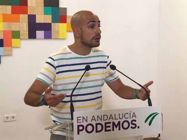 El secretario de Política y de Comunicación de Podemos Andalucía, Pablo Pérez Ganfornina.
