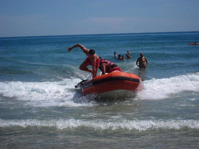 Cruz Roja, salvamento, playa