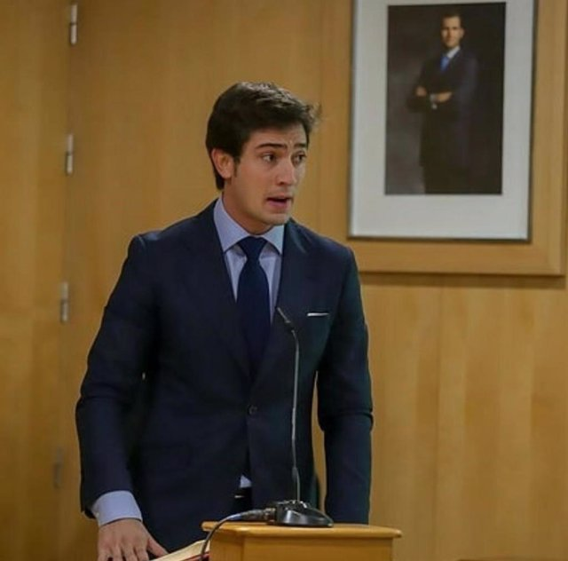 El portavoz del grupo popular en la Diputación de Sevilla, Luis Paniagua