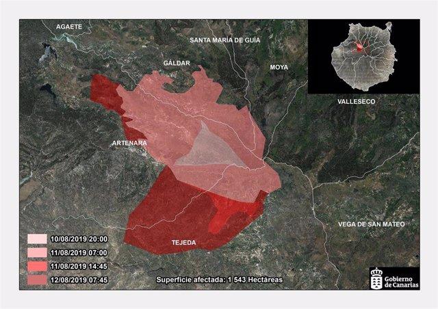 Infografía incendio Gran Canaria