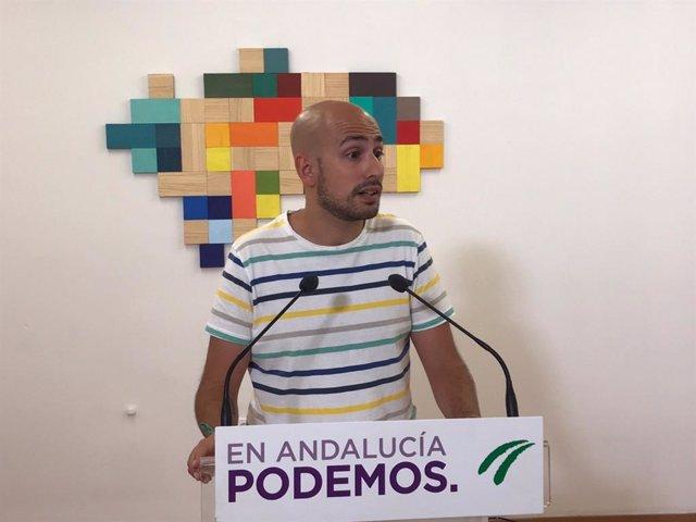 El responsable de la Secretaría Política y de Comunicación de Podemos Andalucía, Pablo Pérez Ganfornina.