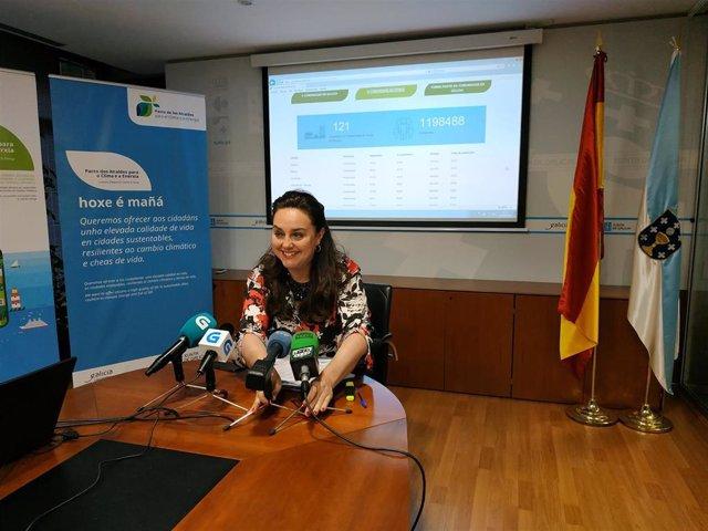 La directora xeral de Calidade Ambiental e Cambio Climático, María Cruz Ferreira.