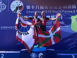 La representación de la Ertzaintza consigue dos medalals de plata y bronces en los Mundiales de Chengdu, en China