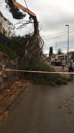Incidències en la via a causa de les pluges a Sitges