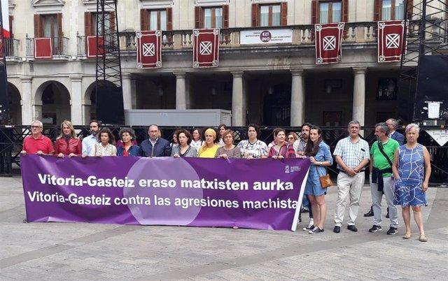 """El Ayuntamiento de Vitoria rechaza las agresiones a mujeres y advierte de que """"no tolerará"""" comportamientos machistas."""