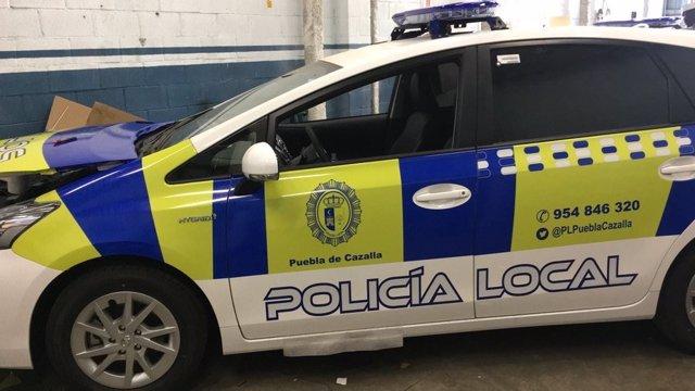 Vehículo de la Policía Local de Puebla de Cazalla (Sevilla)