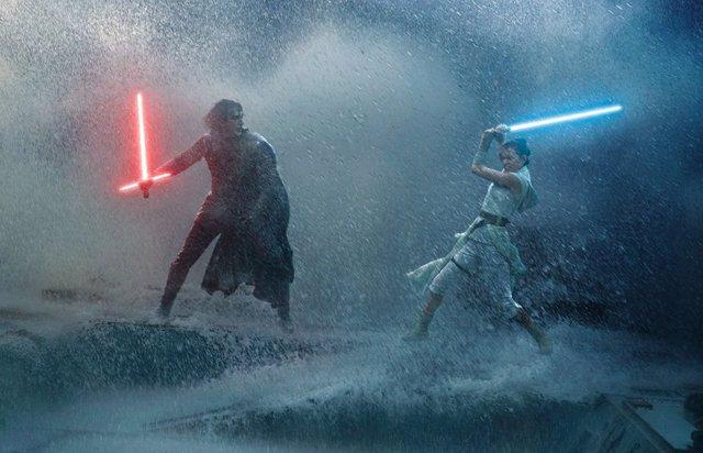 Kylo Ren y Rey en Star Wars