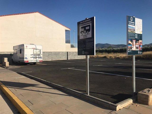 El área de autocaravanas de La Almunia tiene capacidad para nueve vehículos