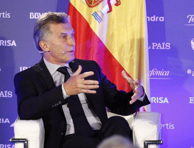 Mauricio Macri participa en el Foro de El País Invertir en Argentina