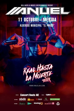 Cartel del concierto Anuel en Mérida
