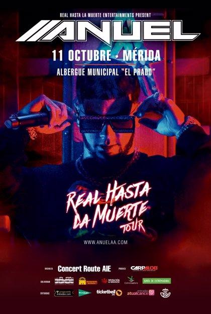 Las entradas para el concierto de Anuel AA en Mérida salen a la venta este martes