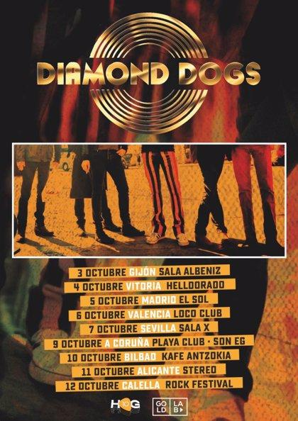 Diamond Dogs presentarán nuevo disco en nueve ciudades españolas