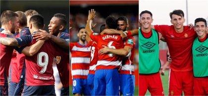 Osasuna, Granada y Mallorca buscan consolidarse en su retorno
