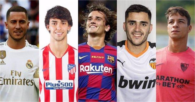 Hazard, Joao Félix, Griezmann, Maxi Gómez y Óliver Torres, fichajes para LaLiga Santander 2019-20