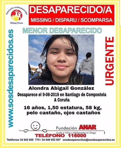 Localizada en bo estado a menor de 16 anos desaparecida desde o venres en Santiago