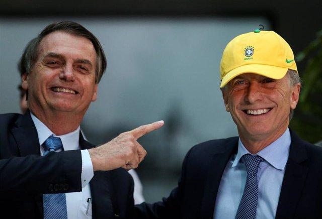 Los presidentes de Brasil, Jair Bolsonaro, y Argentina, Mauricio Macri