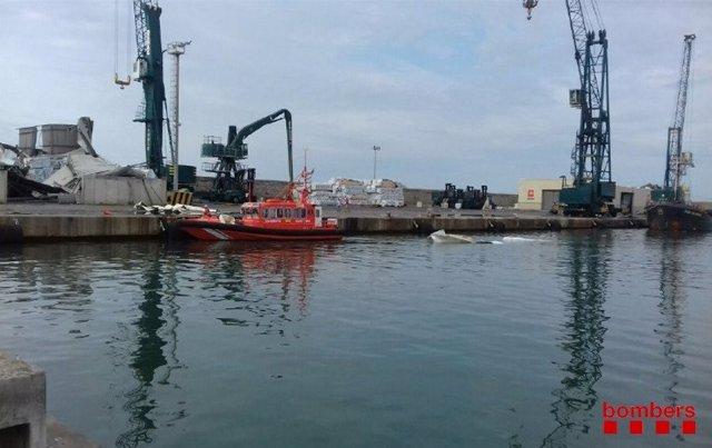Imagen del Puerto de Vilanova i la Geltrú a causa de las inundaciones