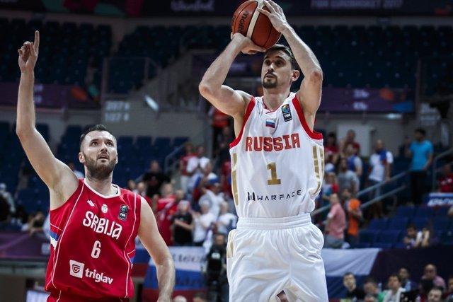 Shved lanza en el Rusia - Serbia dek Eurobasket 2017